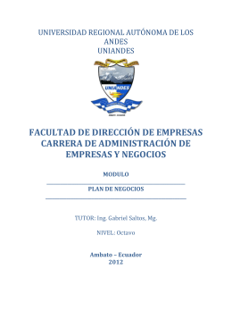 PLAN DE NEGOCIOS (1) - uniandesgerenciaestrategica