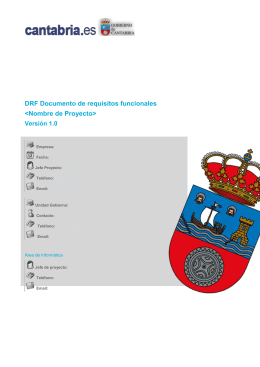 DRF Documento de requisitos funcionales
