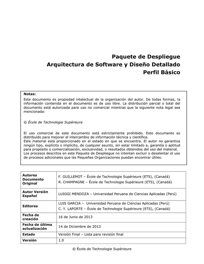 Increíble Plantilla De Documento De Despliegue De Software Imágenes ...