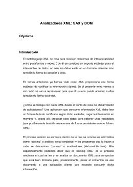 Analizadores XML: SAX y DOM - Departamento de Lenguajes y