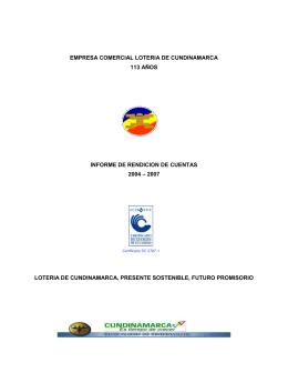 EMPRESA COMERCIAL LOTERIA DE CUNDINAMARCA