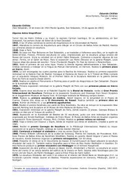 Eduardo Chillida Alicia Romero, Marcelo Giménez (sel., notas)