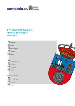 DPR Documento de pruebas - Estándares de desarrollo del