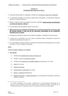 Anexo VI Modelo informe descriptivo final