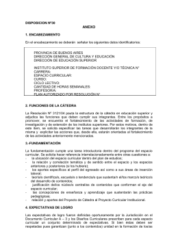 DISPOSICION Nº30 - Instituto Superior de Formación Docente y