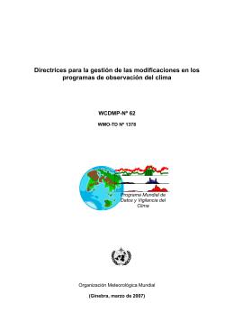 Directrices para la gestión de las modificaciones en los programas