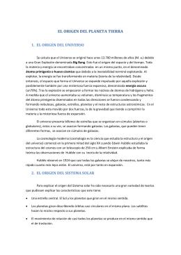 Ud 2.a. EL ORIGEN DEL PLANETA TIERRA Y LOS MÉTODOS DE