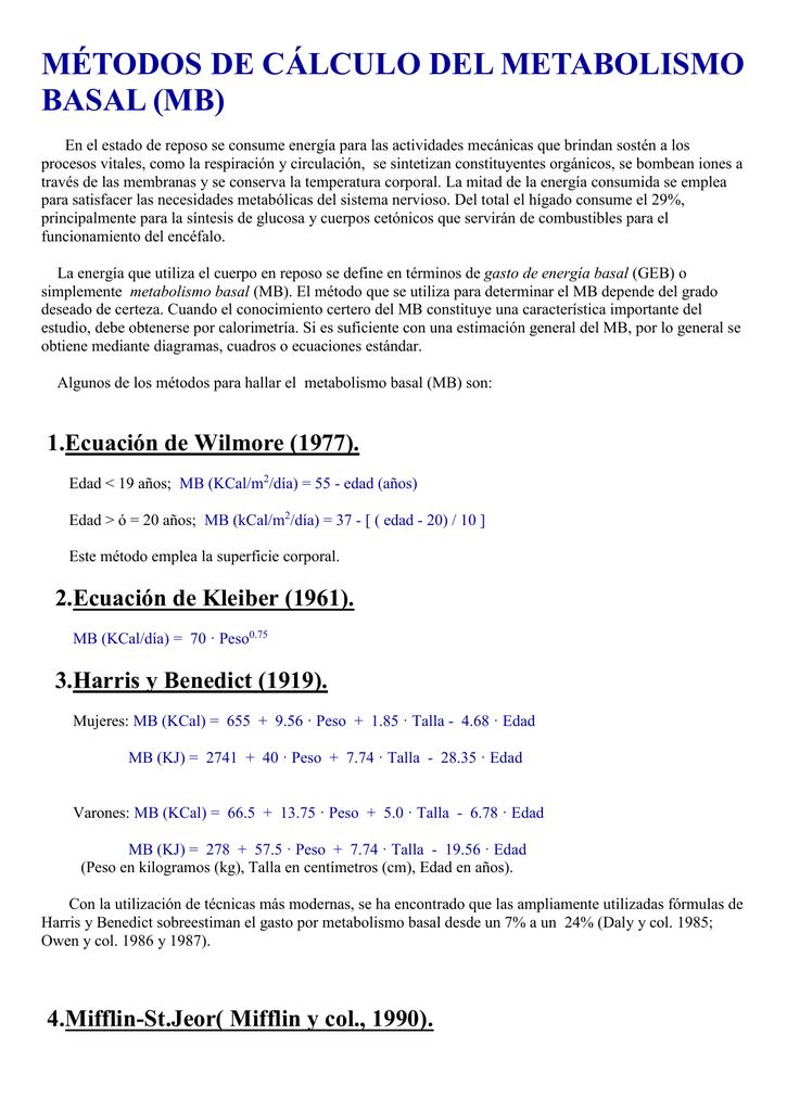 ee5c8c4b37 Fórmulas para el cálculo del metabolismo basal