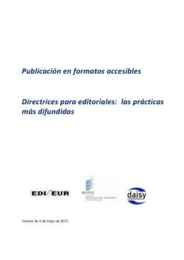 Publicación en formatos accesibles