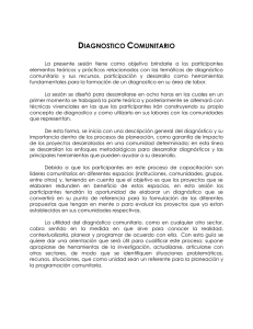 Diagnostico de la Comunidad