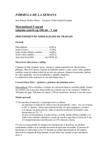 Metronidazol 5 mg/ml solución estéril csp 100 ml
