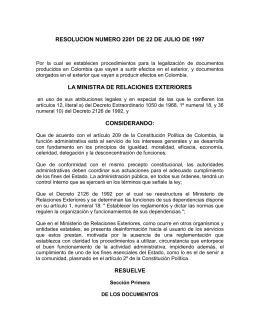 Resolución 2201 de 22 de julio de 1997