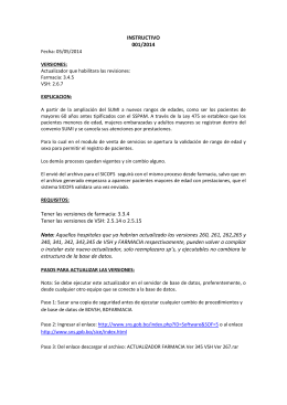INSTRUCTIVO 001/2014 Fecha: 05/05/2014 VERSIONES