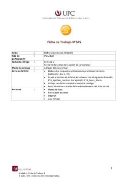 Ficha de Trabajo MTA5 Tema : Elaboración de una infografía Tipo