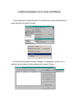 CONFIGURANDO OUTLOOK EXPRESS