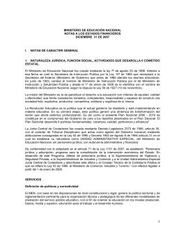 notas a los estados financieros - Ministerio de Educación Nacional
