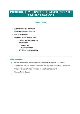 productos de servicios financieros y de seguros básicos