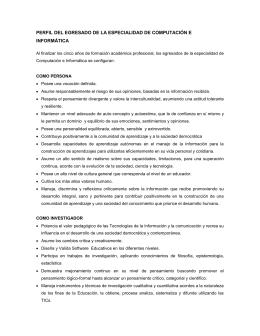 perfil del egresado de la especialidad de computación e informática