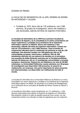 Documento - Facultad de Informática