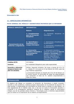 informática - Universidad de Jaén