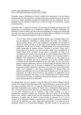 carta del presidente de la federación granadina