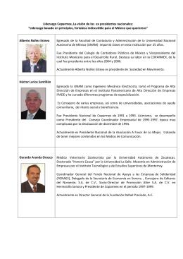Liderazgo Coparmex, La visión de los ex presidentes nacionales: