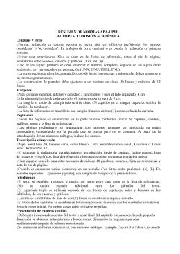 RESUMEN DE NORMAS UPEL Profesor Ramn