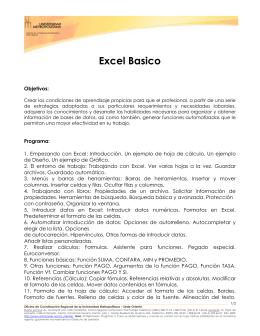 Excel-Basico - Universidad Metropolitana