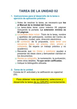 TAREA DE LA UNIDAD 02 1. I n