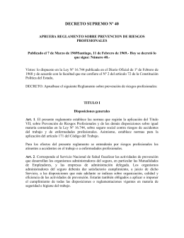 DECRETO SUPREMO Nº 40 - Universidad de Chile