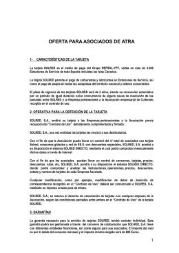 OFERTA DE SERVICIOS SOLRED