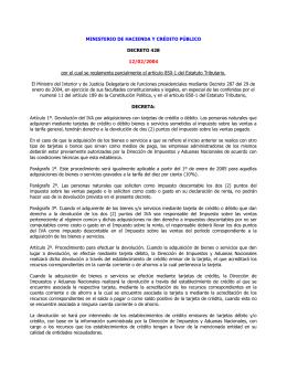 MINISTERIO DE HACIENDA Y CRÉDITO PÚBLICO DECRETO 428