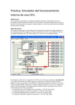 Práctica: Simulador del funcionamiento interno de una CPU.