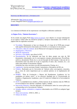 Sistemas de Difusión de la Información (Jornadas, página Web y