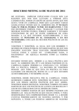 BUENAS NOCHES A TODOS Y A TODAS Y EN PRIMER LUGAR