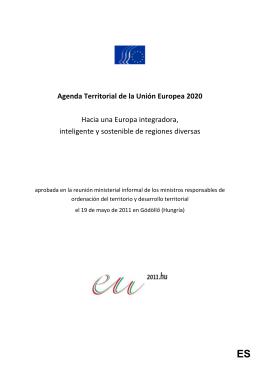 Agenda Territorial Europea 2020 adoptada en Gödöllö en 2011