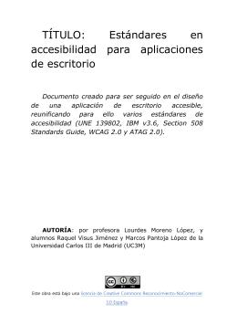 TÍTULO: Estándares en accesibilidad para aplicaciones de escritorio