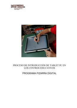 PROCESO DE INTRODUCCIÓN TABLET PC