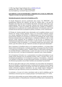 """Propuesta de artículo """"Estadística para PC ACTUAL"""" para"""