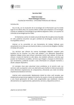 Servicios Web - Universidad Politécnica de Valencia