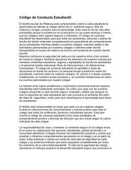 Bullying Policy/Código de Conducta Estudiantil