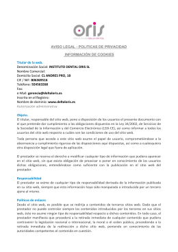 Aviso Legal - instituto de salud dental oris