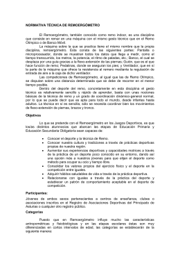 NORMATIVA TÉCNICA DE REMOERGÓMETRO