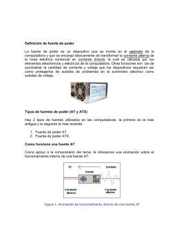 LA FUENTE DE ALIMENTACION - mantenimiento de computadores