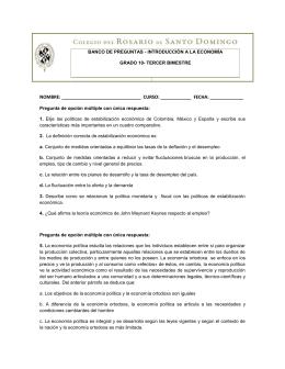 BANCO DE PREGUNTAS - INTRODUCCIÓN A LA ECONOMÍA