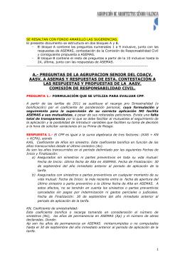 RESPUESTAS A PREGUNTAS DE LA AGRUPACION AASV