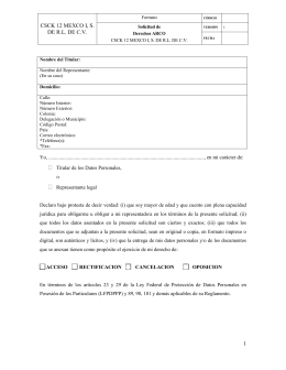 the ARCO Rights Application Form