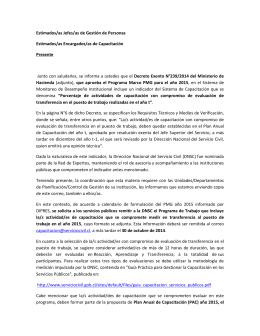 Primer mail a servicios enviado por el Servicio Civil el 09/10/2014