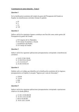 Cuestionario de autoevaluación - Tema 6