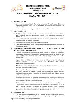 Karate Do - Ministerio del Deporte